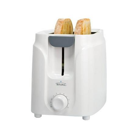 Rival 2-Slice White Toaster