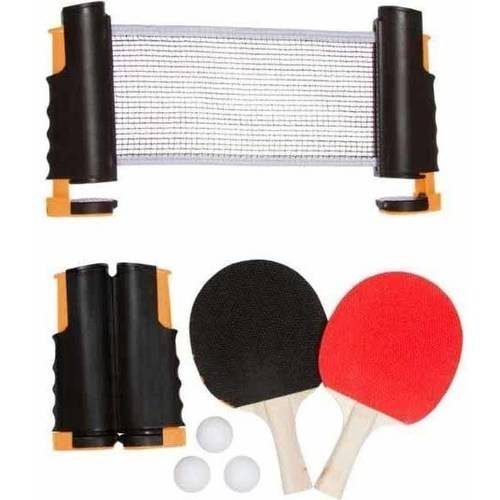 Anywhere Table Tennis Set with Paddles and Balls by Trademark Innovations, Blue