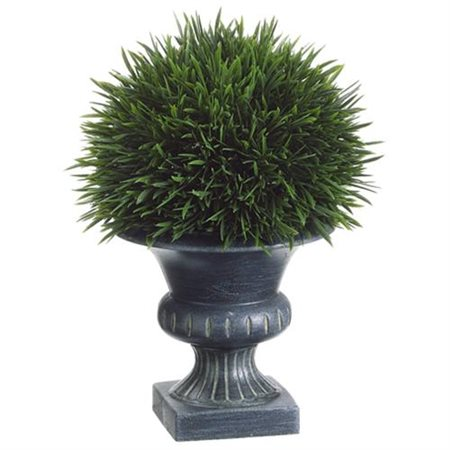Silk Flower Depot Grass in Plastic Urn