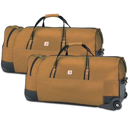 "Carhartt Legacy Heavy-Duty Wheeled Gear Bag 36"", Carhartt Brown 2 Pack"