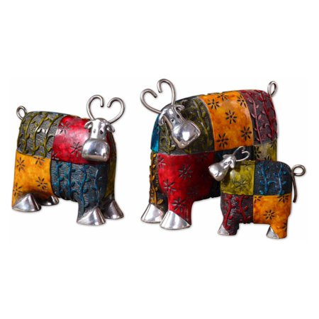 Uttermost 3 Panel - Uttermost 19058 Colorful Cows - Set of 3
