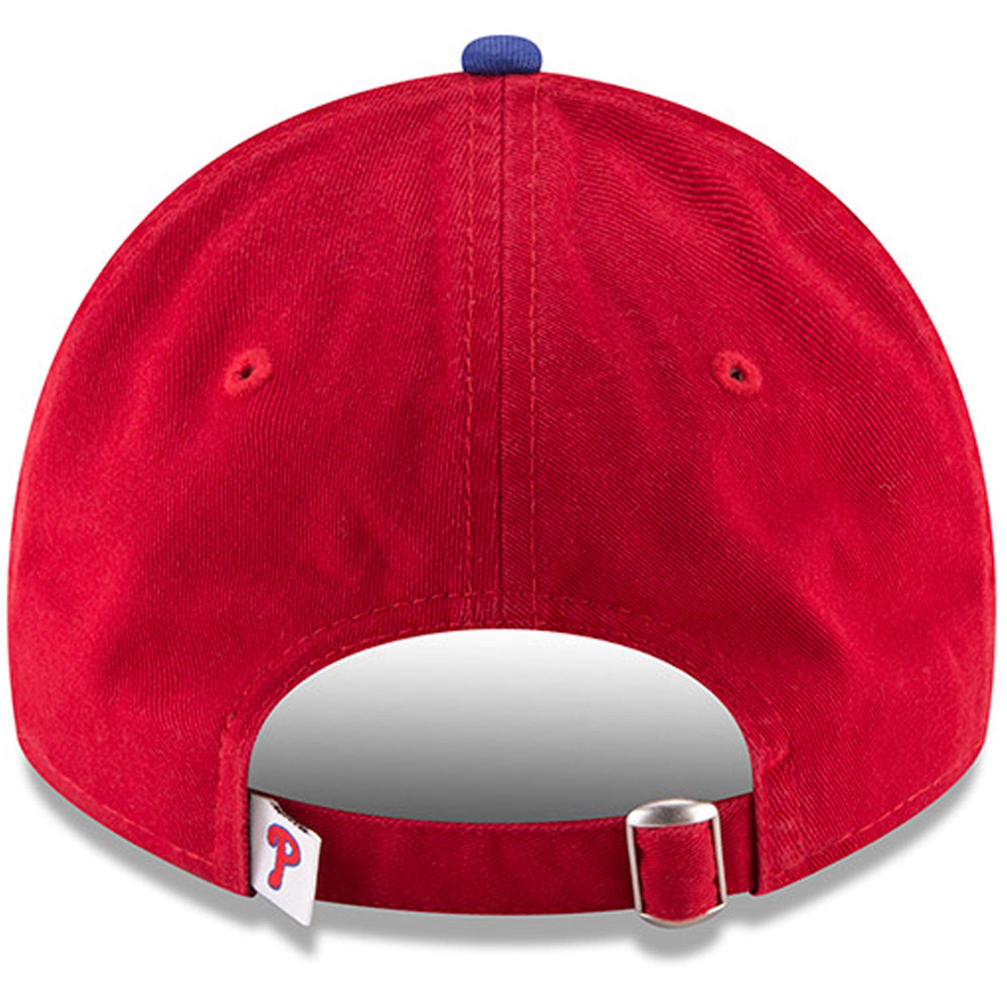 hot sale online f716b 9c82b Philadelphia Phillies New Era Game Replica Core Classic 9TWENTY Adjustable  Hat - Red - OSFA - Walmart.com