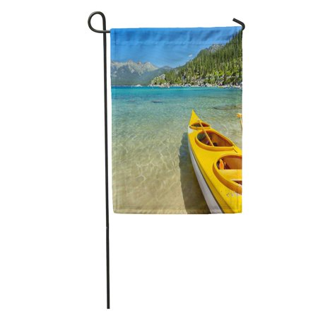 LADDKE Blue Lake Kayak Tahoe Summer Nevada Harbor Sand Water Romantic Garden Flag Decorative Flag House Banner 28x40 - Harbor Banners