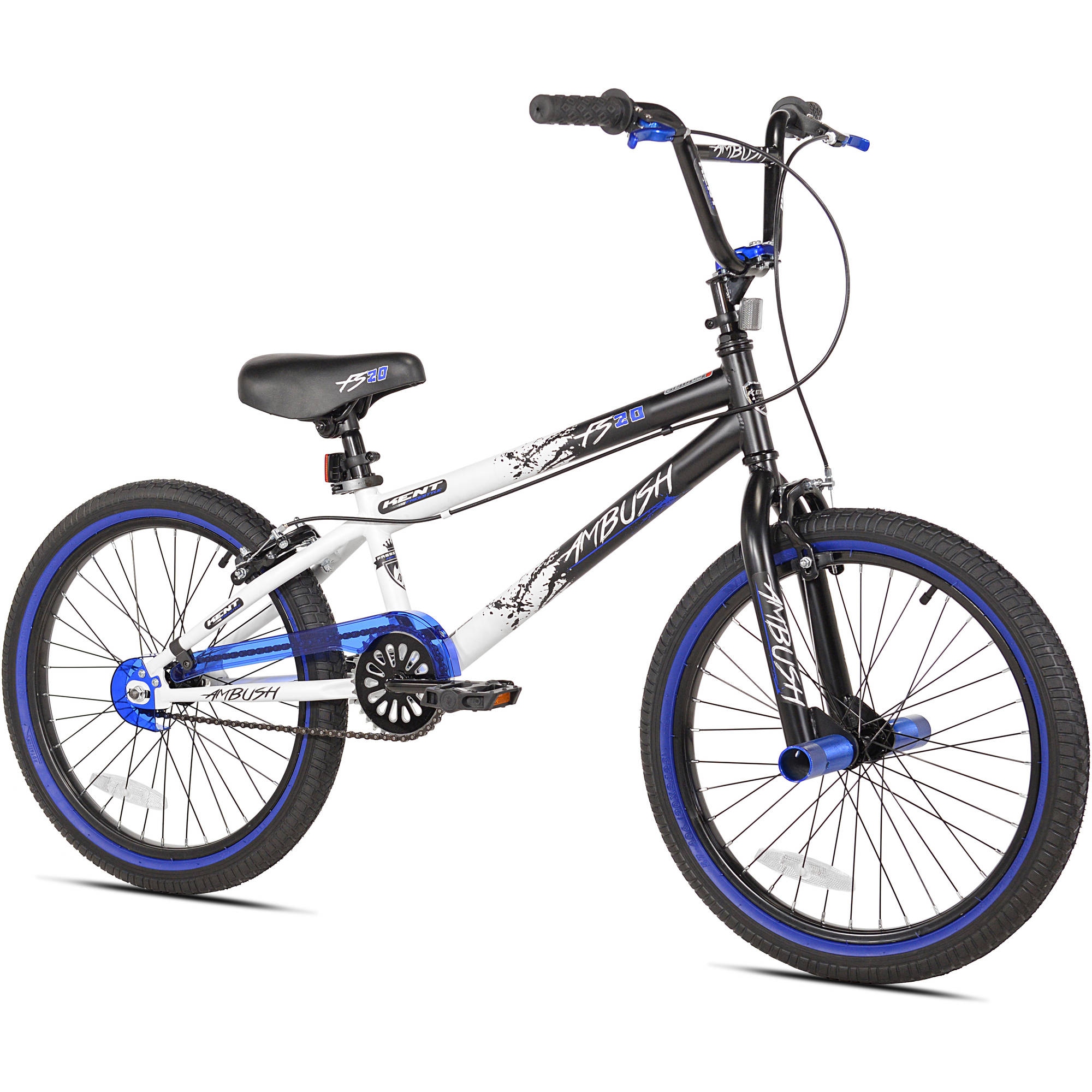 "Kent 20"" Boys', Ambush BMX Bike, Blue, For Height Sizes 4'2"" and Up by Kent International Inc"