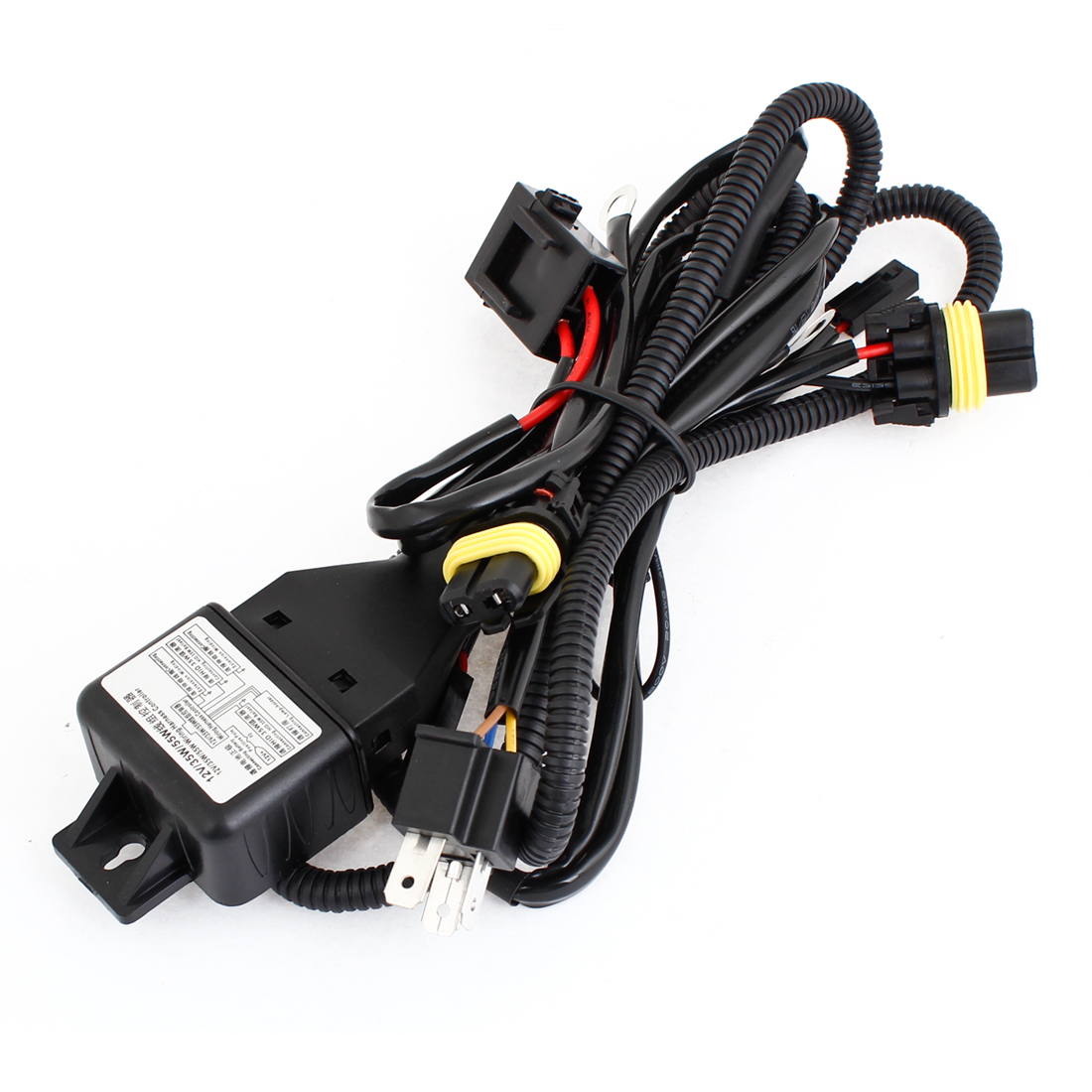Unique Bargains 15m Cable Hid Xenon Dc 12v 35w 55w Wiring Harness For Vehicle Controller Car