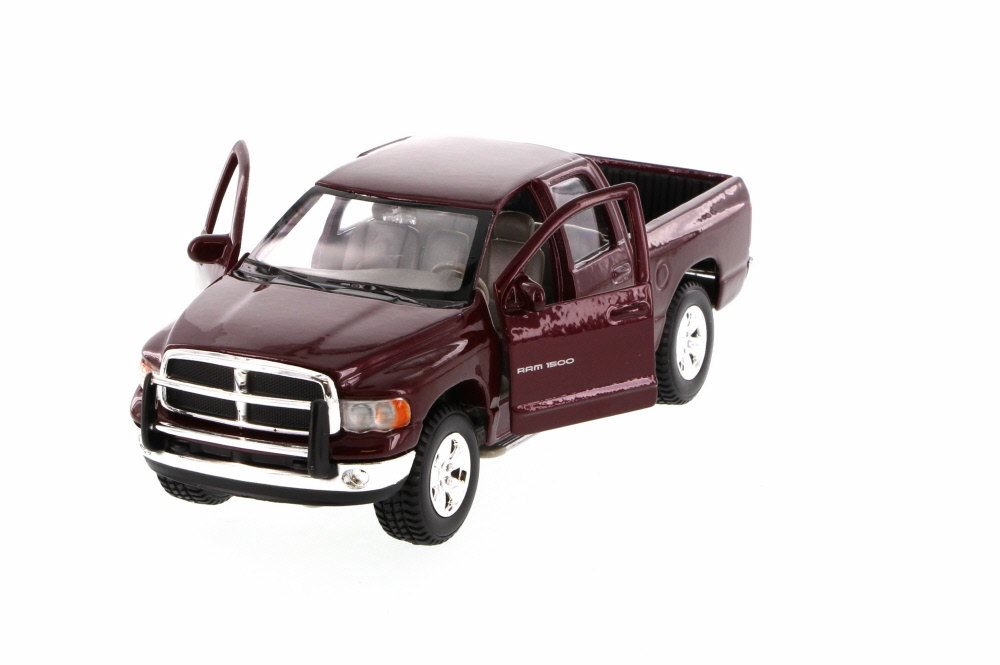 2002 Dodge Ram Quad Cab Pick Up Truck, Maroon Maisto 31963MR 1 27 Scale Diecast Model Toy... by Maisto