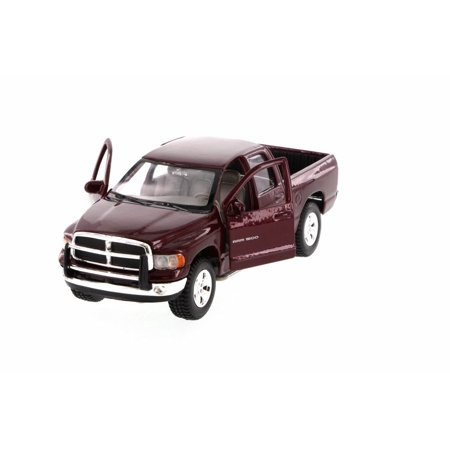 - 2002 Dodge Ram Quad Cab Pick Up Truck, Maroon - Maisto 31963MR - 1/27 Scale Diecast Model Toy Car