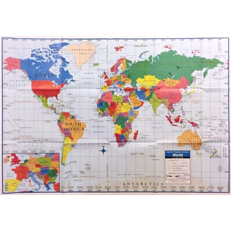 World map poster size wall decoration large map of the world 40 x world map poster size wall decoration large map of the world 40 x 28 gumiabroncs Image collections