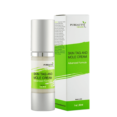 Skin Tag And Mole Cream By Pureauty Naturals: Advanced Formula With Natural Ingredients, Nourishing Moisturizer For A Healthy Complexion, Specialized Formula For Skin Tag, Warts and