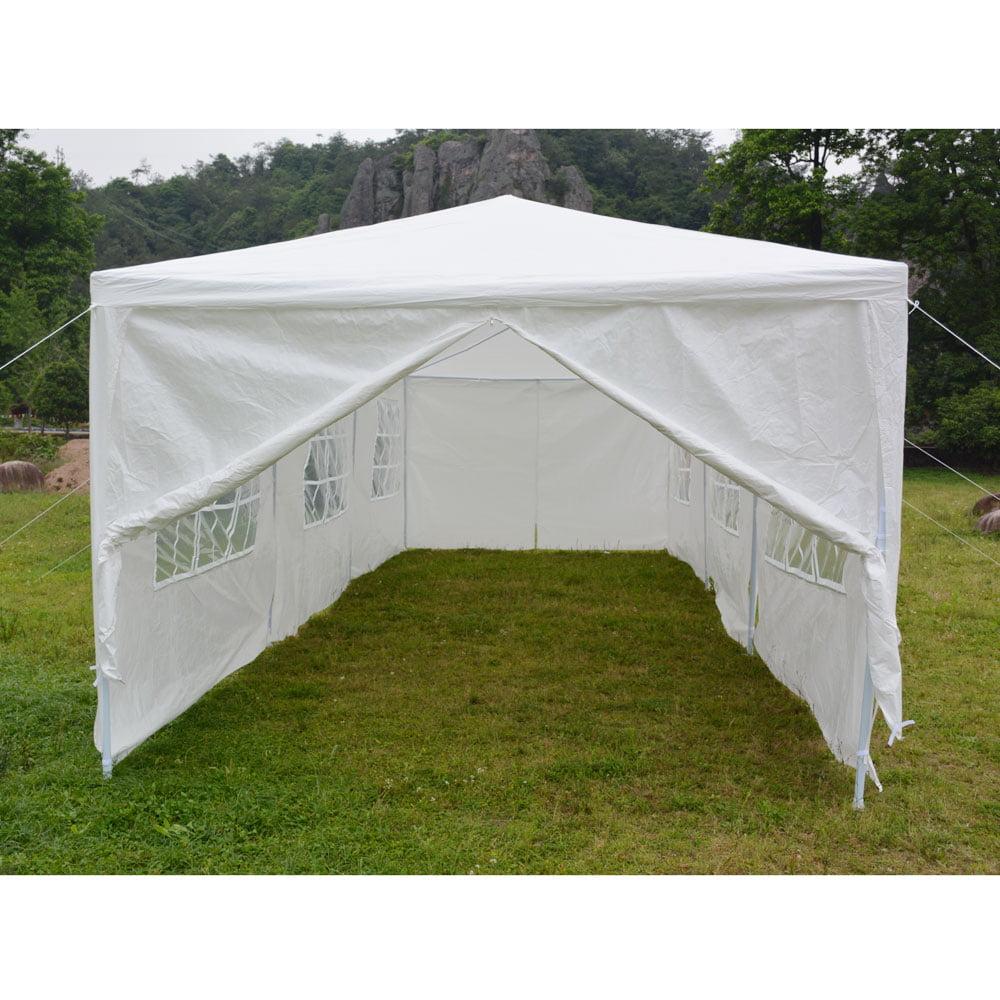 Gazebo Wedding Party Tent Canopy Marquee Waterproof White 10x30 ft Vanderlife brand