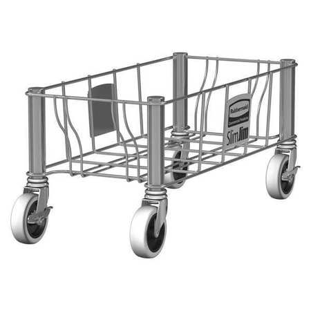 Container Dolly,100 lb,Single,9in H,Gray