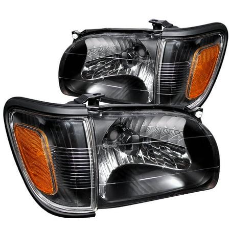 Spec-D Tuning For 2001-2004 Toyota Tacoma Black Head Lights + Corner Lights Signal Lamp 2001 2002 2003 2004 (Left+Right)