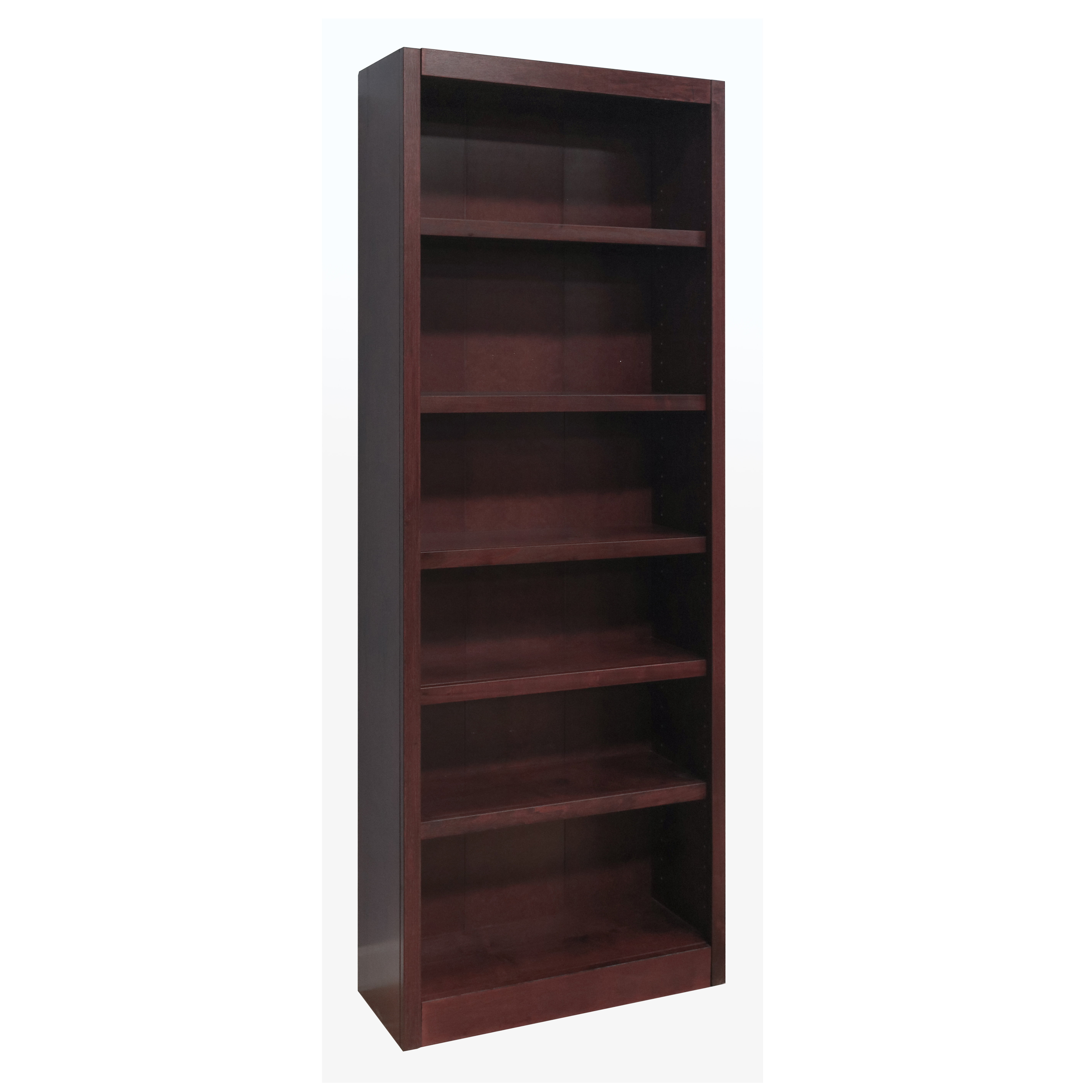 Concepts In Wood 6 Shelf Wood Bookcase 84 Inch Tall
