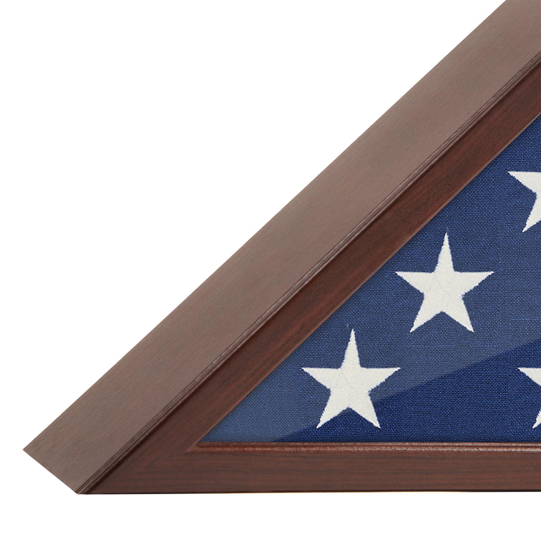 Americanflat Flag Case Frame Display Case Fits 5x95 Flag