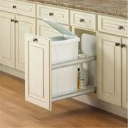 KV FEUSC12 1 50WH Soft Close  Door Mount Waste Bins White 50 qt