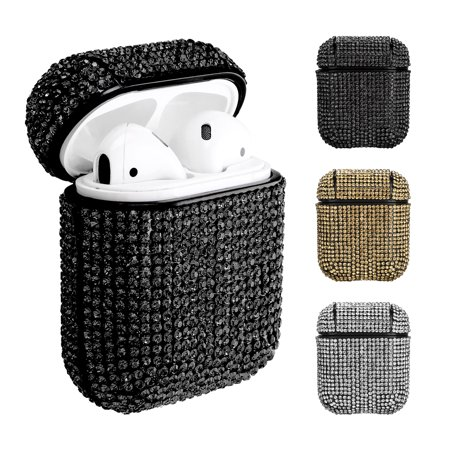 Compatible with Airpods Case, Luxurious Rhinestone Bling Diamonds Charging Protective Case Cover Compatible for Apple Airpods
