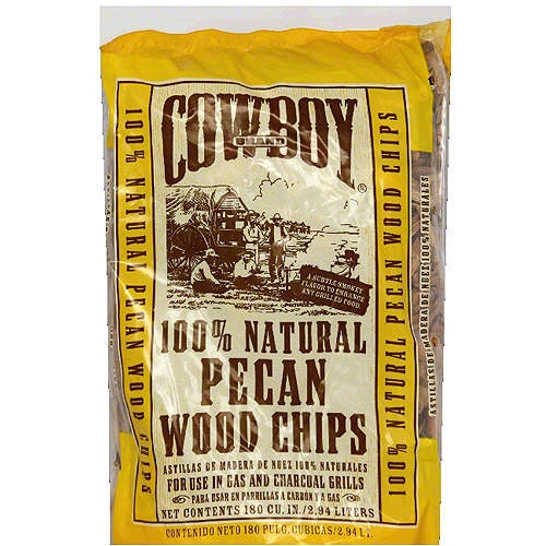 Cowboy 100% Natural Pecan Wood Chips, 2.94 liters, (Pack of 6)
