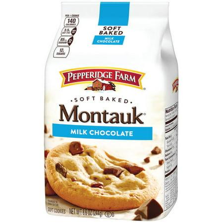 (2 Pack) Pepperidge Farm Montauk Soft Baked Milk Chocolate Cookies, 8.6 oz. Bag
