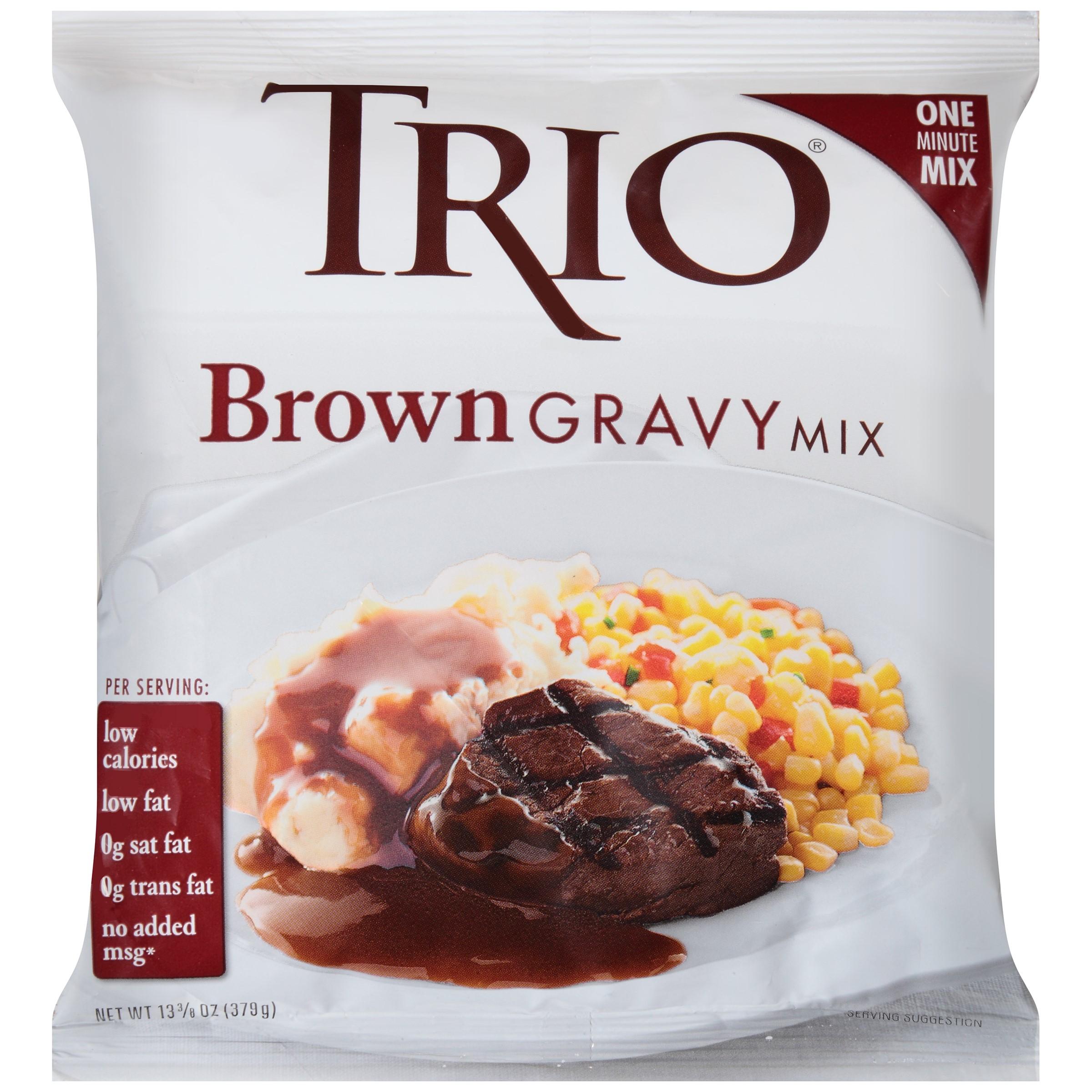 Trio Brown Gravy Mix 13.38 oz. Bag