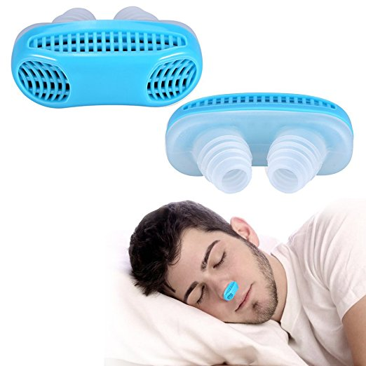 2PCS Anti Snoring Snore Free Snore Stopper Magnetic Silicone Nose Clip Sleeping Device White