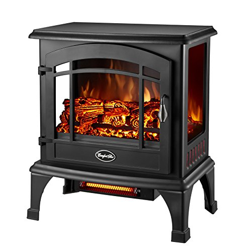 Comfort Glow Sanibel Panoramic Electric Stove With Infrared Quartz - Infrared - Electric - Gloss Black (eqs5140)