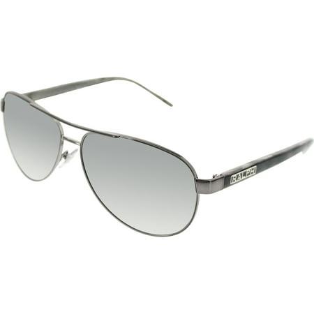 Ralph Lauren Men's RA4004-103/11-59 Black Aviator Sunglasses