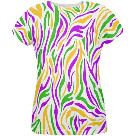 Mardi Gras Zebra Stripes Costume All Over Womens T Shirt](Mardi Gras Fashions For This Year)