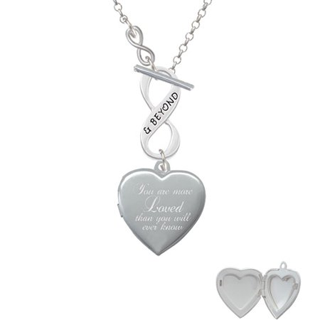 You Are More Loved Engraved Locket - To Infinity & Beyond Toggle Necklace