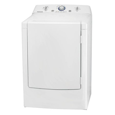 Electric Dryer, 7 0 cu  ft , White, Width 27