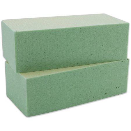 Desert Foam Bricks Packaged, Green, 2 Per Package, FLORACRAFT-Dry Styrofoam Ship from (Floracraft Desert Foam)