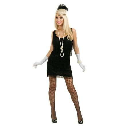 Halloween Fashion Flapper Adult Black (Halloween Fashion Story 2017)