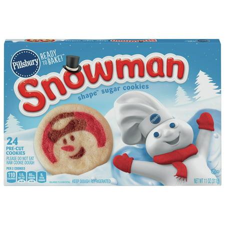 Bake! Snowman Shape Sugar Cookies