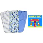 Summer Infant SwaddleMe Swaddling Blanket 3-Pack with Rockabye Baby Dave Matthews CD, Large, Graphic Car