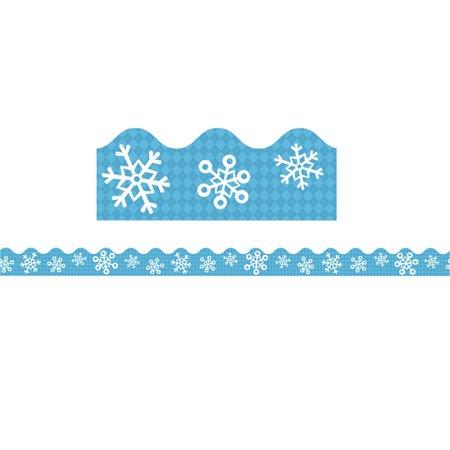 Snowflake Border - SNOWFLAKES SCALLOPED BORDER
