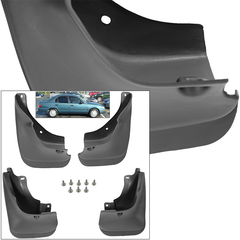 Front Rear Mud Flaps Splash Guards For 1993-1997 Toyota Corolla Mudguards