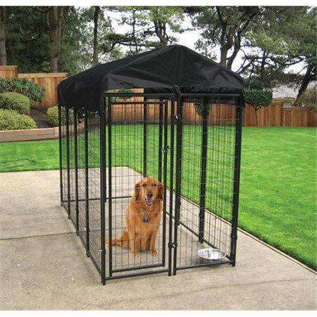 Lucky Dog 6H x 4W x 8L Uptown Welded Wire Kennel w/Cover and - Frame Welded Wire