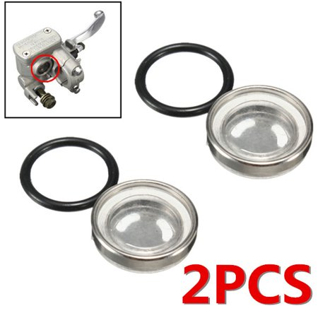 2Pcs 18Mm Motorcycle Brake Master Cylinder Reservoir Sight Glass Len Gasket Universal Motorbike Pit Dirt Bike Atv For Honda Yamaha Kawasaki Suzuki Us