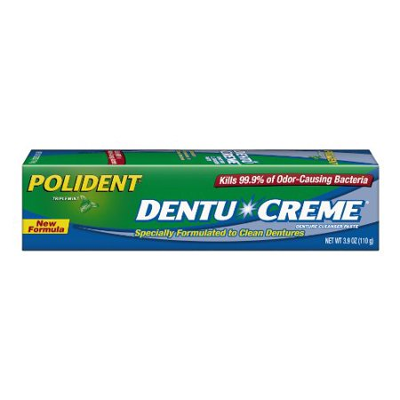 - 2 Pack - Polident Dentu-Creme Denture Toothpaste, 3.9 Oz Each