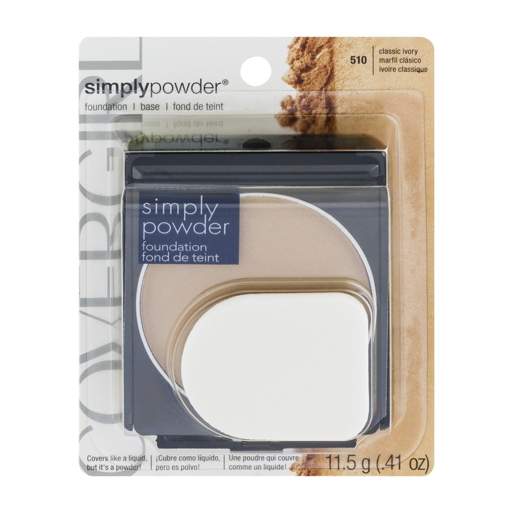 CoverGirl Simply Powder Foundation 510 Classic Ivory, 0.41 OZ