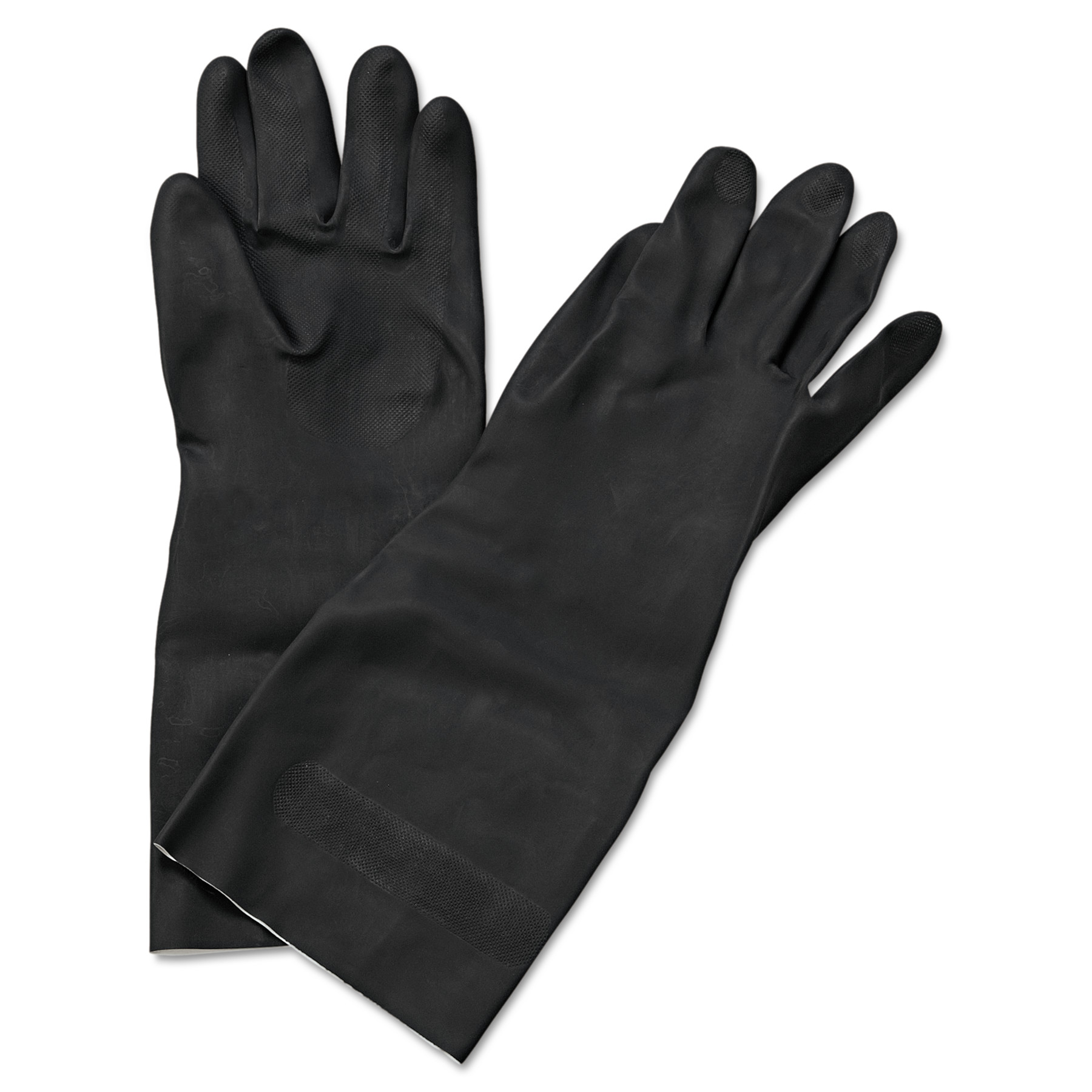 "Boardwalk Neoprene Flock-Lined Gloves, Long-Sleeved, 12"", Large, Black, Dozen -BWK543L"