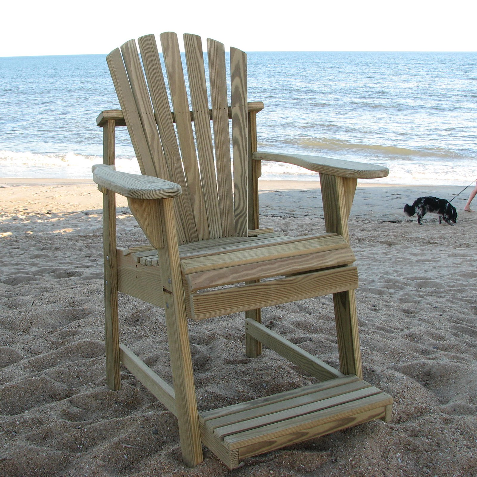 weathercraft designers choice treated balcony adirondack chair with