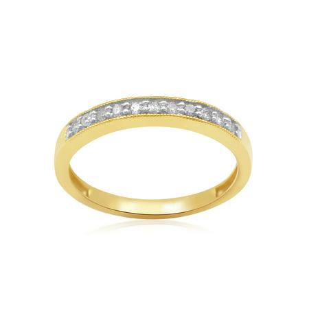 1/10 Carat T.W. Diamond 10kt Yellow Gold Anniversary - Gold Diamond Anniversary Band