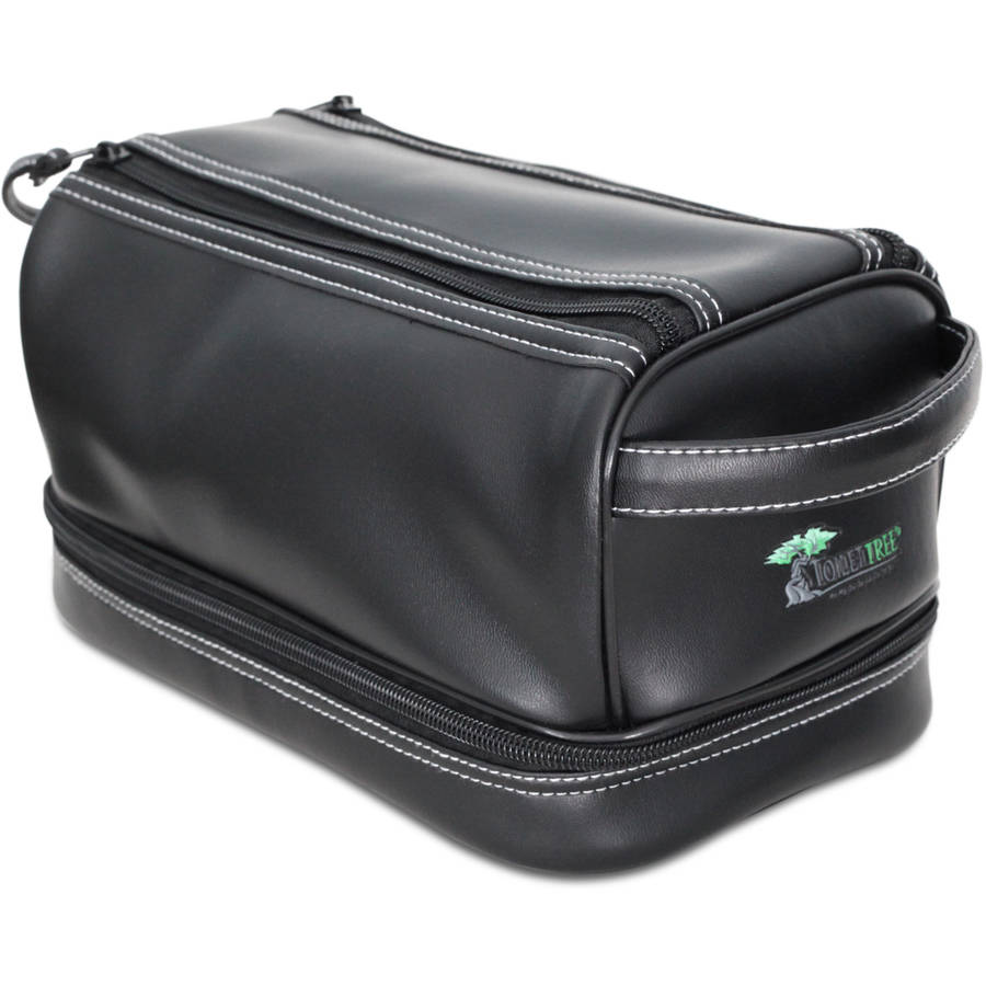 ToiletTree Products Deluxe Toiletry Bag with Sonic Travel Toothbrush and TSA Approved Bottles by ToiletTree Products