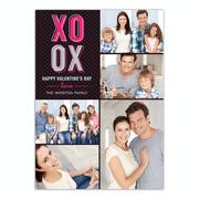 Personalized Valentines Day Greeting Card - XOXO Valentine