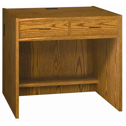 Ironwood Glacier Computer Desk with 2 Drawers