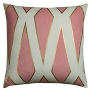 """Rachel Kate By Rizzy Home Decorative Poly Filled Throw Pillow Geometric 20""""X20"""" Pink"""