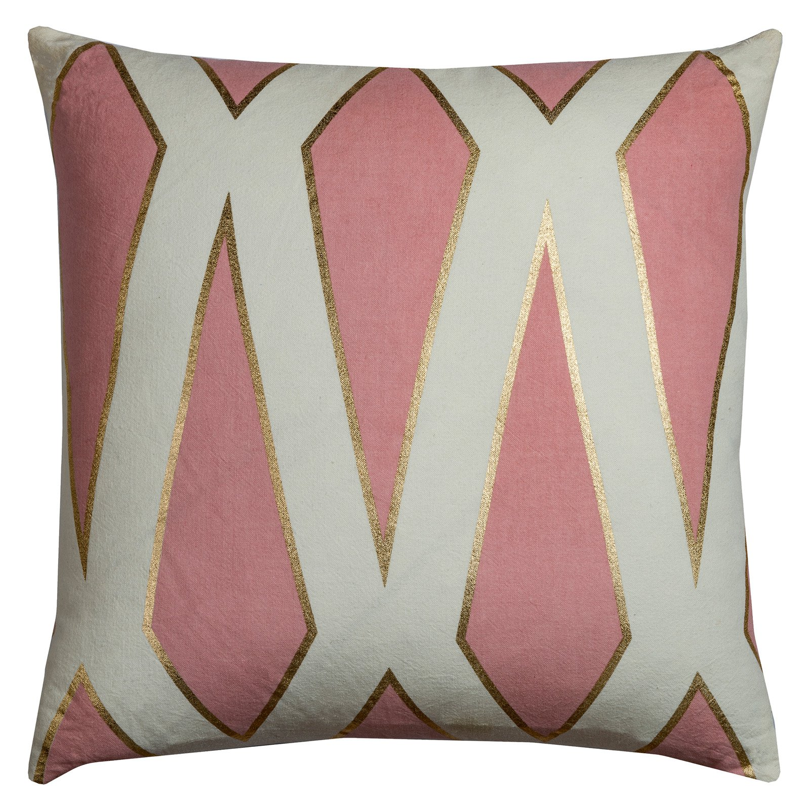 "Rachel Kate By Rizzy Home Decorative Poly Filled Throw Pillow Geometric 20""X20"" Pink"