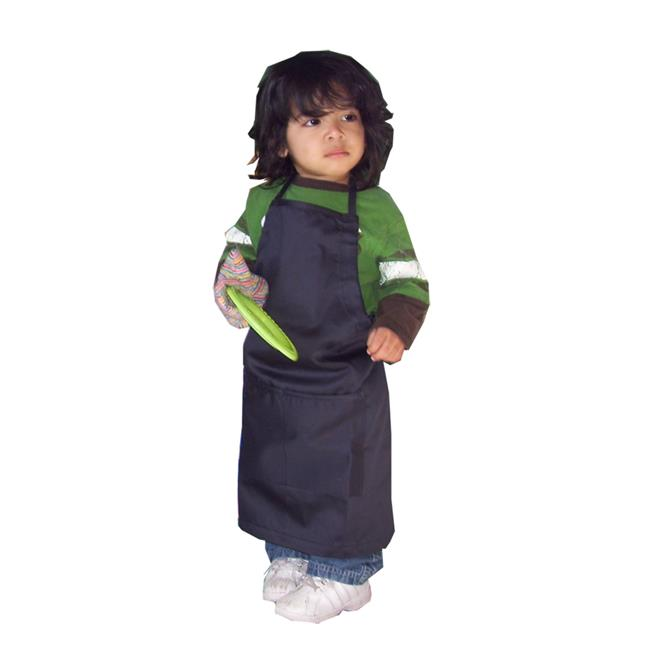 Image of A Greener Kitchen AP018 Boys Organic Cotton Apron - Moonless Night Black