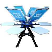 Techtongda 6 Color Silk Screen Printing Press Manual Screen Printing Machine #006366
