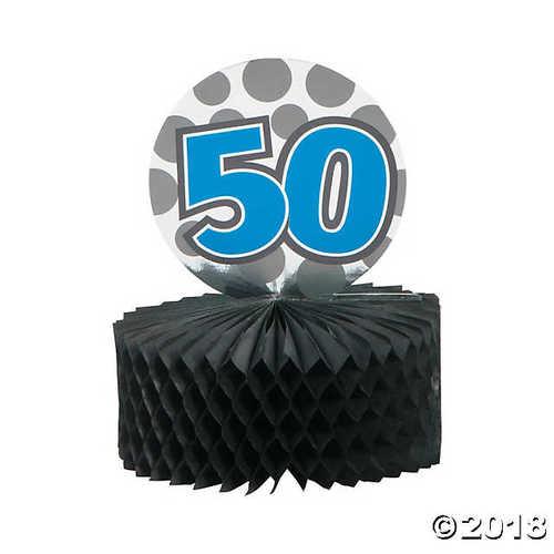Mini 50th Birthday Centerpieces